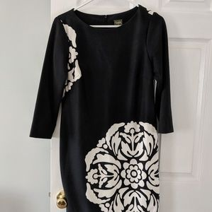 Taylor Day Dress, Black & White